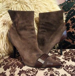 ❤DIOR SUEDE/LEATHER ANKLE BOOTS